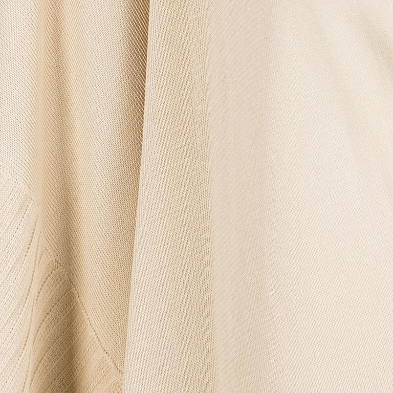 Hermes Beige Knit Open Side Detail Oversized Top L For Sale 1