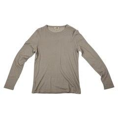 Hermes Beige/Taupe Round Neck Fine Cashmere