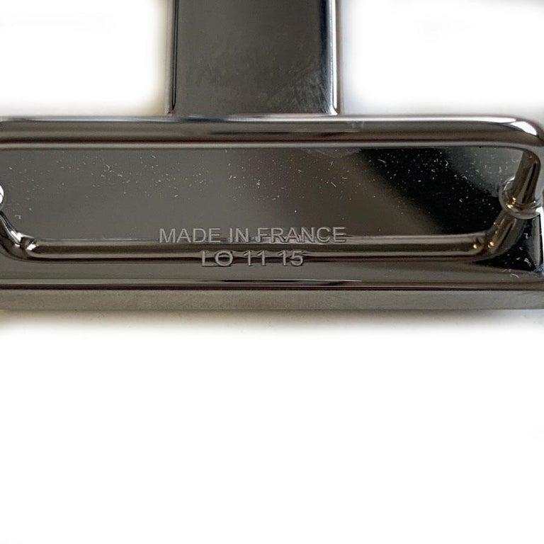 HERMES Belt Buckle in Brushed Silver Metal For Sale 1