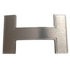 HERMES Belt Buckle in Brushed Silver Metal