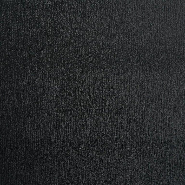 Hermes Belt Clou de Selle Black High Waist Box Leather Gold Hardware 75 New For Sale 5