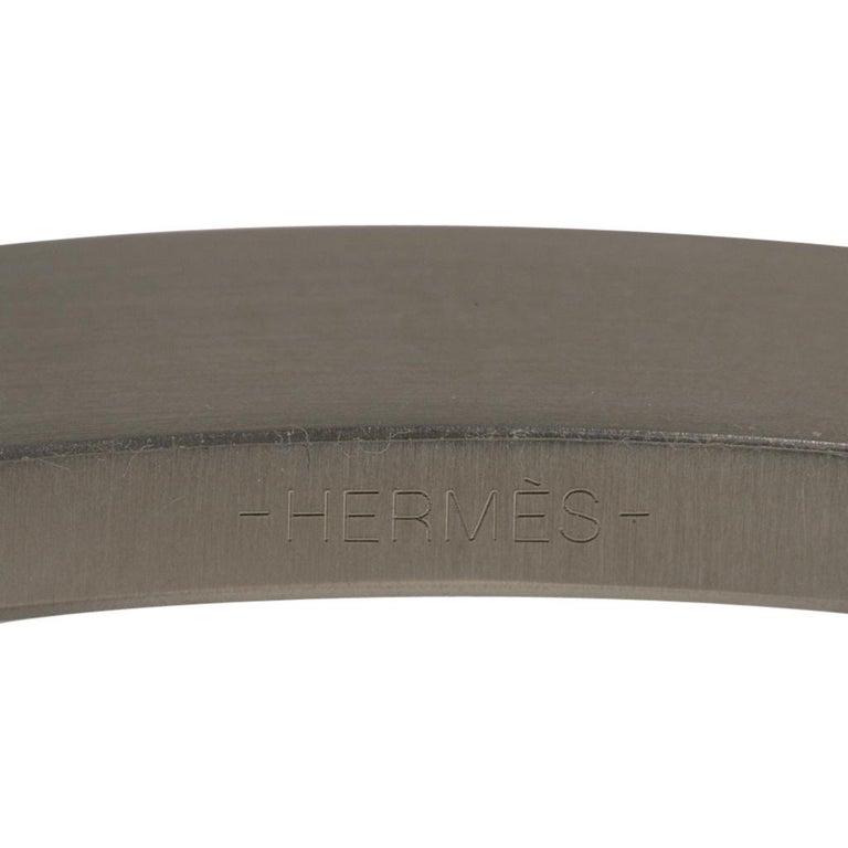 Hermes Belt Constance 42mm Bleu Tempete Matte Porosus Crocodile Palladium 90 For Sale 2