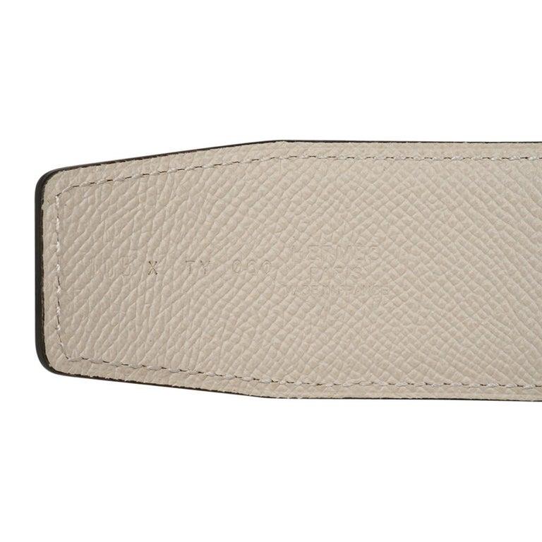 Hermes Belt Constance 42mm Gold / Craie Brushed Gold Buckle 105 For Sale 1