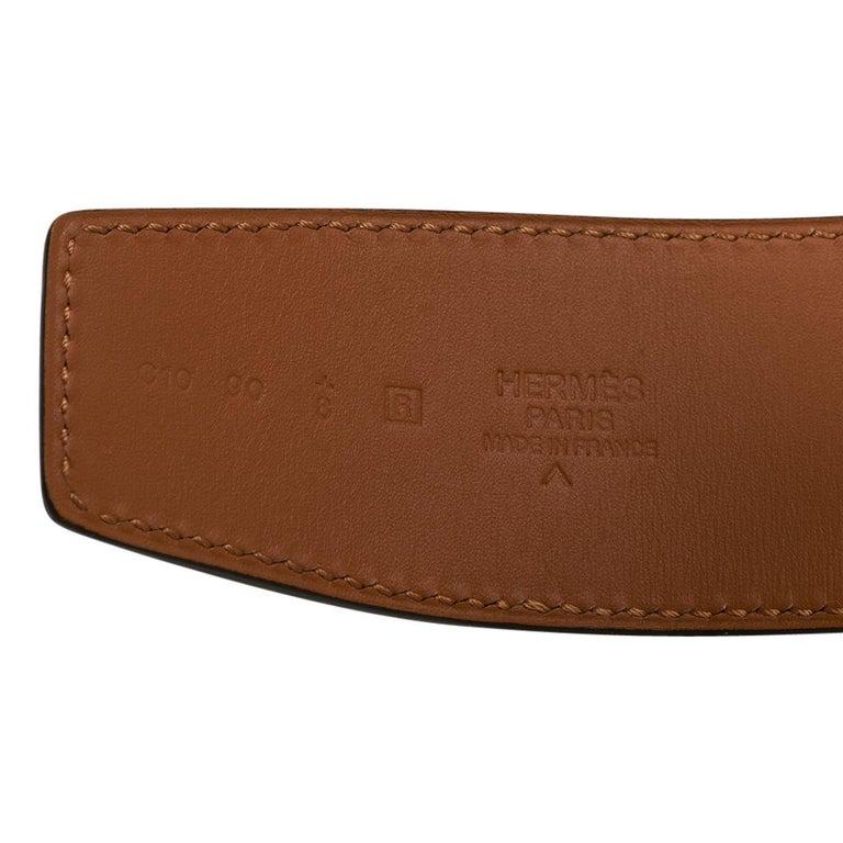 Hermes Belt Constance 42mm Gris Elephant Matte Porosus Crocodile / Gold 90 For Sale 4