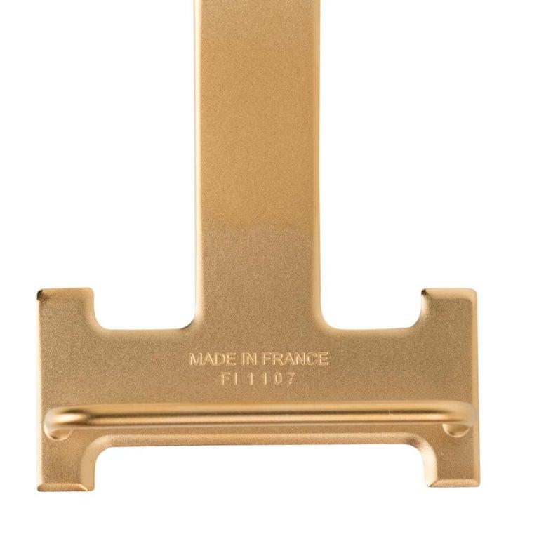 Hermes Belt H Constance 32 mm Rouge Coeur / Blue De Nord Epsom Brushed Gold 95  For Sale 3