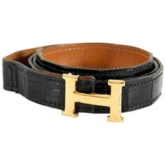 HERMES Belt With Small H Buckle