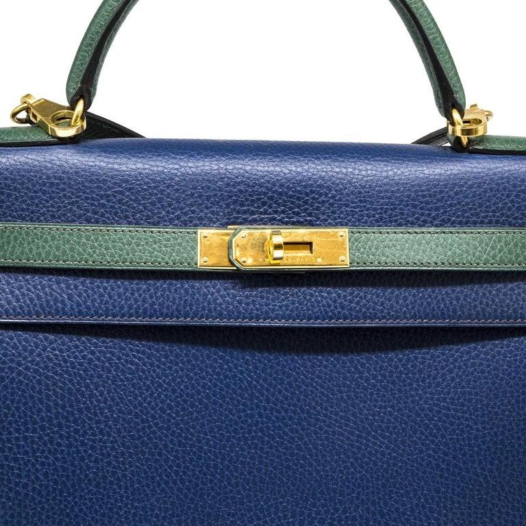 Hermès Bi-colour 32cm Kelly Sellier Bag For Sale 1