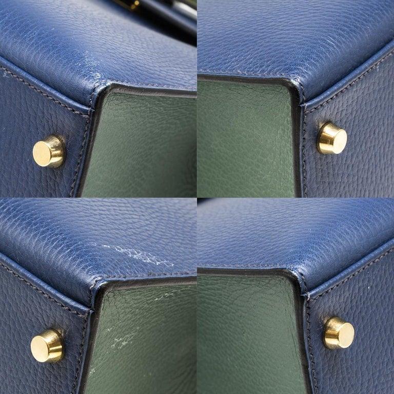 Hermès Bi-colour 32cm Kelly Sellier Bag For Sale 3