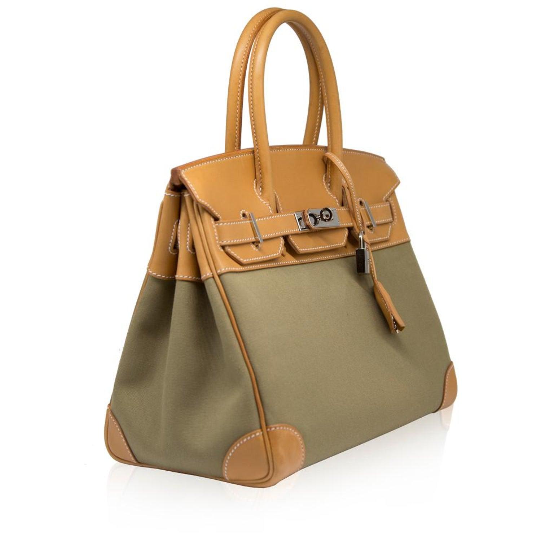 03c5e5d68177 Hermès Bi-colour Toile 28cm Birkin Bag For Sale at 1stdibs