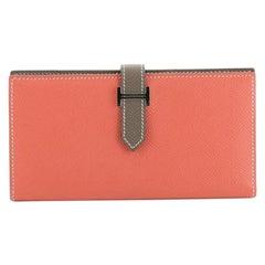 Hermes Bicolor Bearn Wallet Epsom Long