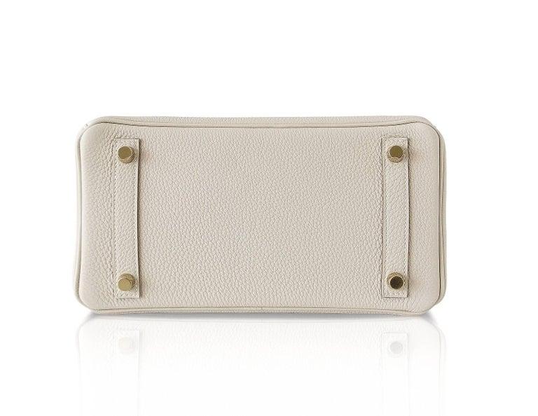 Hermes Birkin 25 Bag HSS Beton w/ Rose Poupre Pink Brushed Gold Hardware Togo For Sale 4