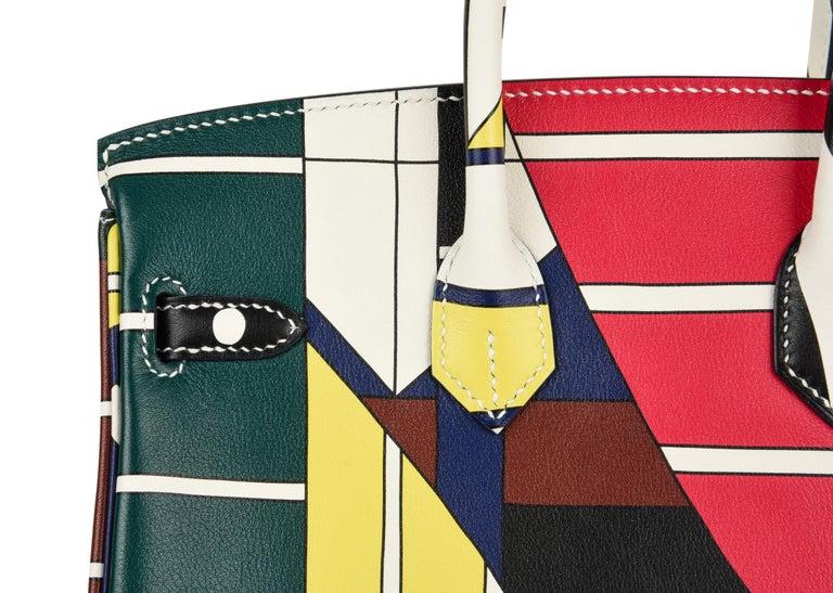 Hermes Birkin 25 Bag One Two Three and Away We Go Limited Edition Nigel Peake For Sale 7