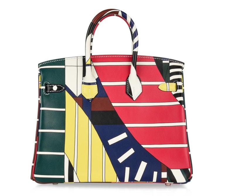 Hermes Birkin 25 Bag One Two Three and Away We Go Limited Edition Nigel Peake For Sale 8