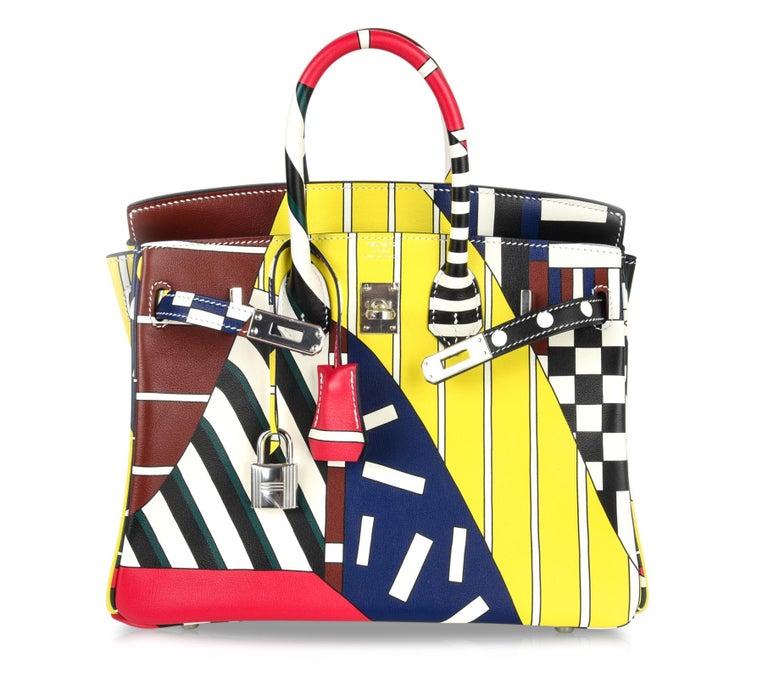 Hermes Birkin 25 Bag One Two Three and Away We Go Limited Edition Nigel Peake For Sale 5