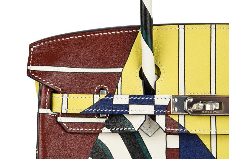 Hermes Birkin 25 Bag One Two Three and Away We Go Limited Edition Nigel Peake For Sale 6