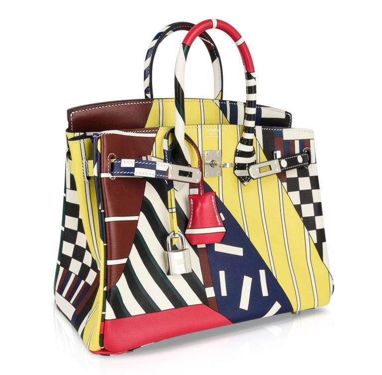 Hermes Birkin 25 Bag One Two Three and Away We Go Limited Edition Nigel Peake For Sale 1