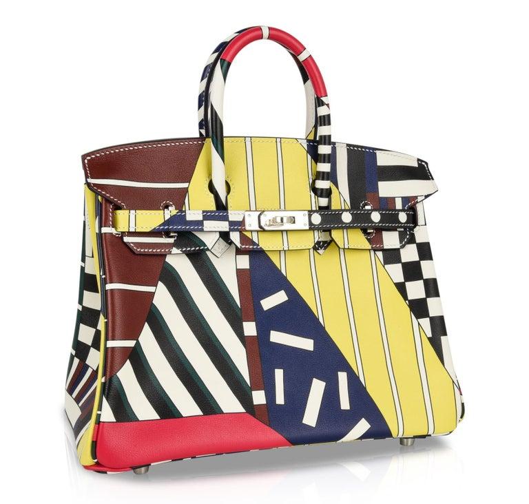 Hermes Birkin 25 Bag One Two Three and Away We Go Limited Edition Nigel Peake For Sale 2