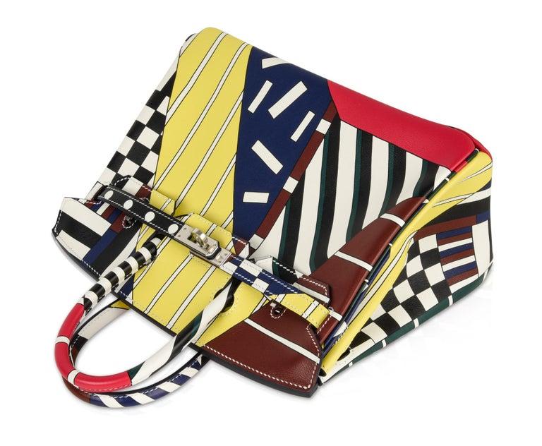 Hermes Birkin 25 Bag One Two Three and Away We Go Limited Edition Nigel Peake For Sale 3