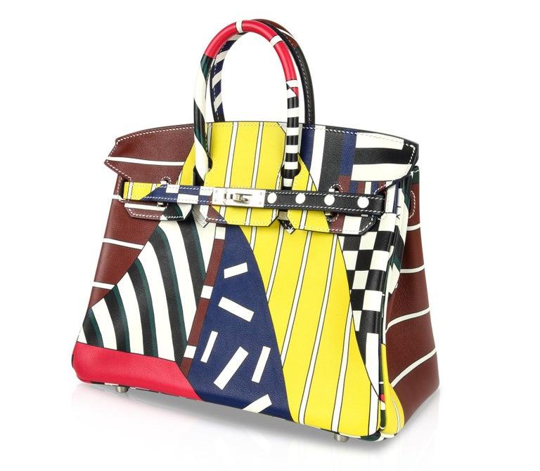 Hermes Birkin 25 Bag One Two Three and Away We Go Limited Edition Nigel Peake For Sale 4