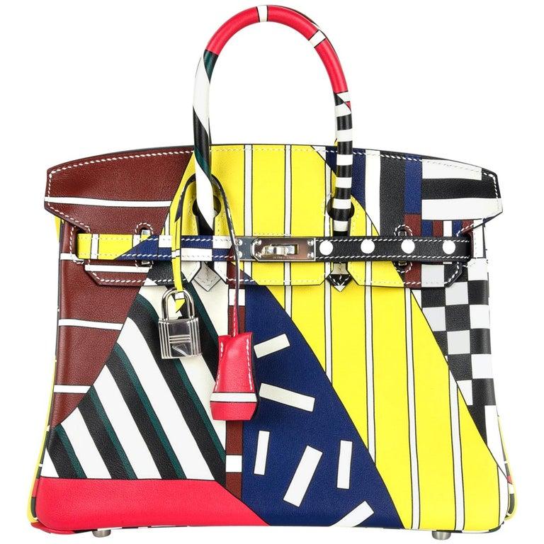 Hermes Birkin 25 Bag One Two Three and Away We Go Limited Edition Nigel Peake For Sale