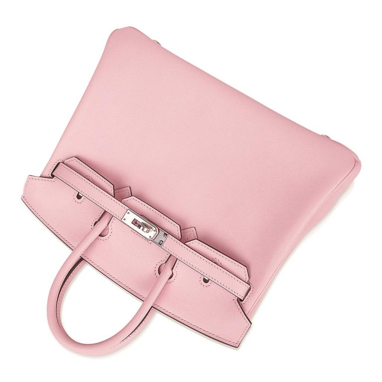 Hermes Birkin 25 Bag Rose Sakura Palladium Hardware Swift Leather Rare For Sale 1