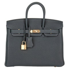 Hermes Birkin 25 Bag Vert Rousseau New Fall Colour Togo Gold Hardware