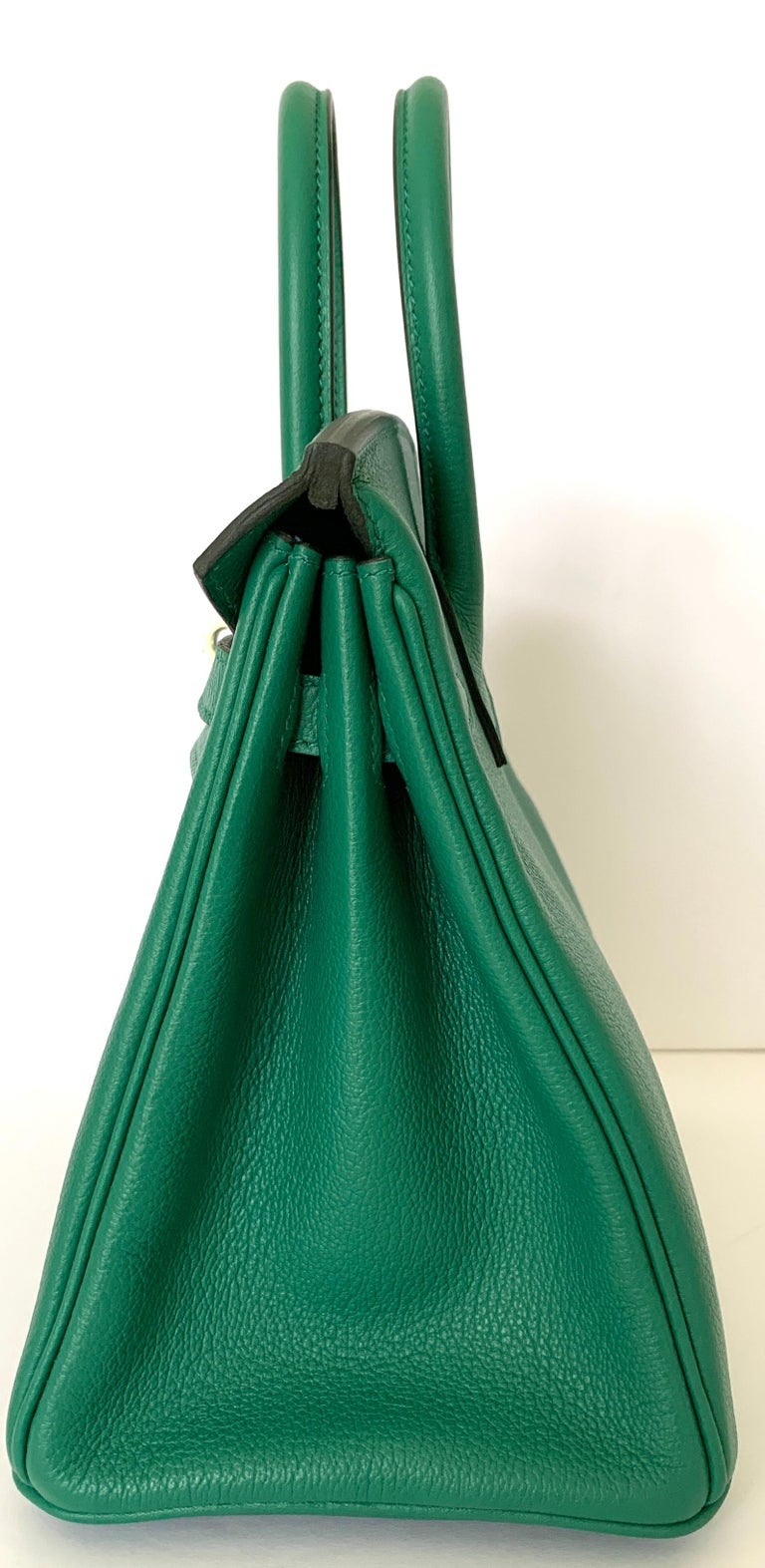 Hermes Birkin 25 Bag Vert Vertigo Green Verso Blue Interior 4