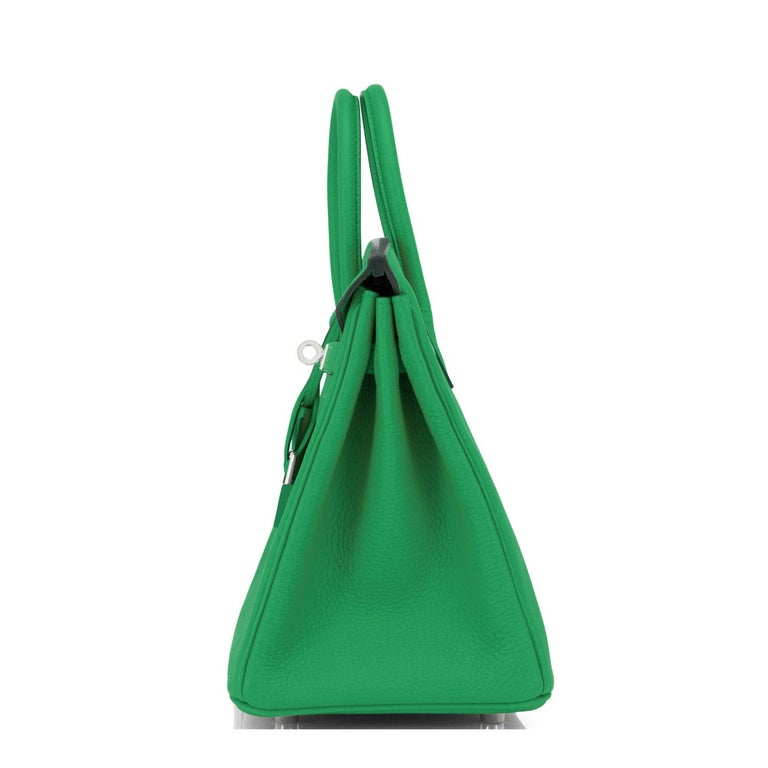 Hermes Birkin 25 Bambou Green Verso Caramel Bamboo Togo Bag Y Stamp, 2020 For Sale 3