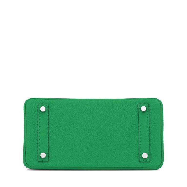 Hermes Birkin 25 Bambou Green Verso Caramel Bamboo Togo Bag Y Stamp, 2020 For Sale 5