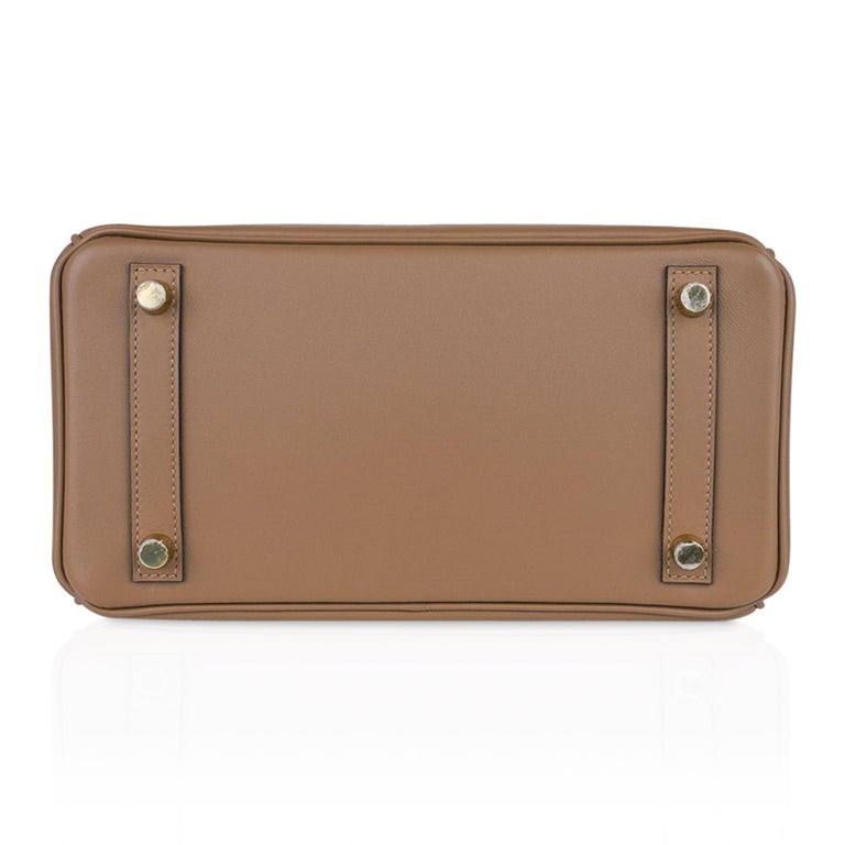 Hermes Birkin 25 Beige De Weimar Veau Jonathan Leather Gold Hardware For Sale 5