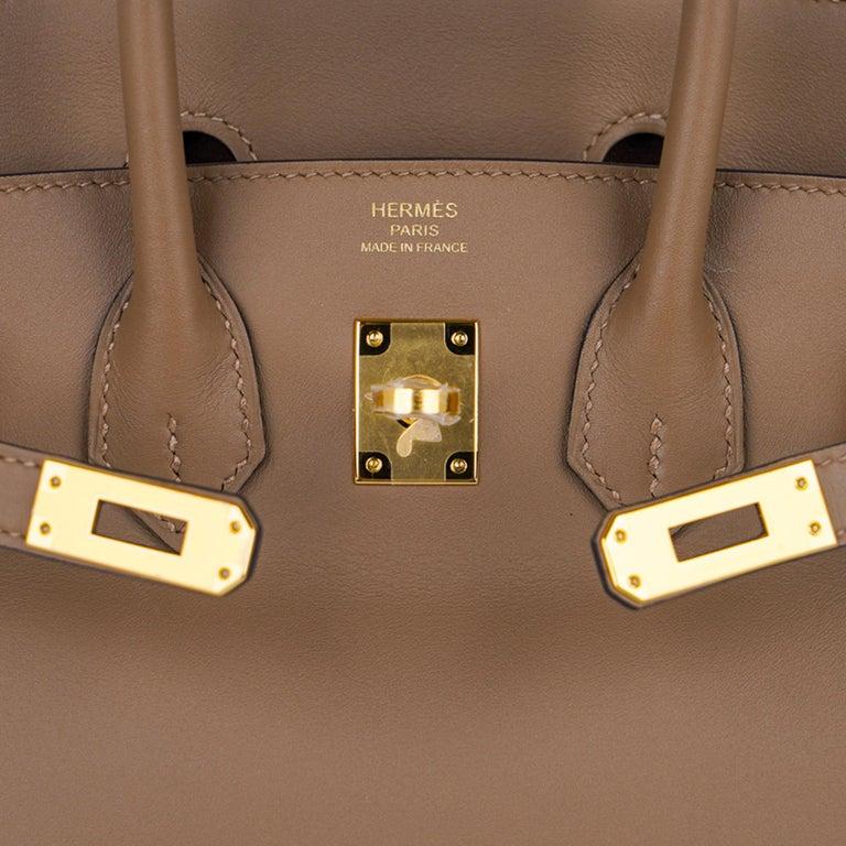 Hermes Birkin 25 Beige De Weimar Veau Jonathan Leather Gold Hardware In New Condition For Sale In Miami, FL