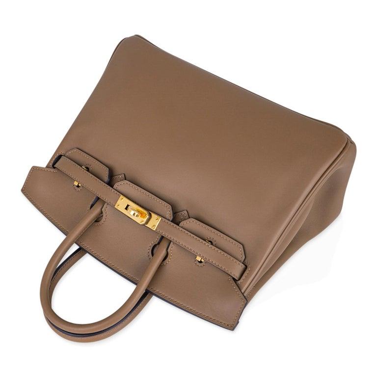 Hermes Birkin 25 Beige De Weimar Veau Jonathan Leather Gold Hardware For Sale 1