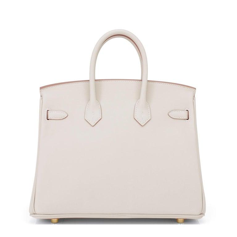Women's Hermes Birkin 25 Beton Off White Gold Hardware Bag Y Stamp, 2020  For Sale