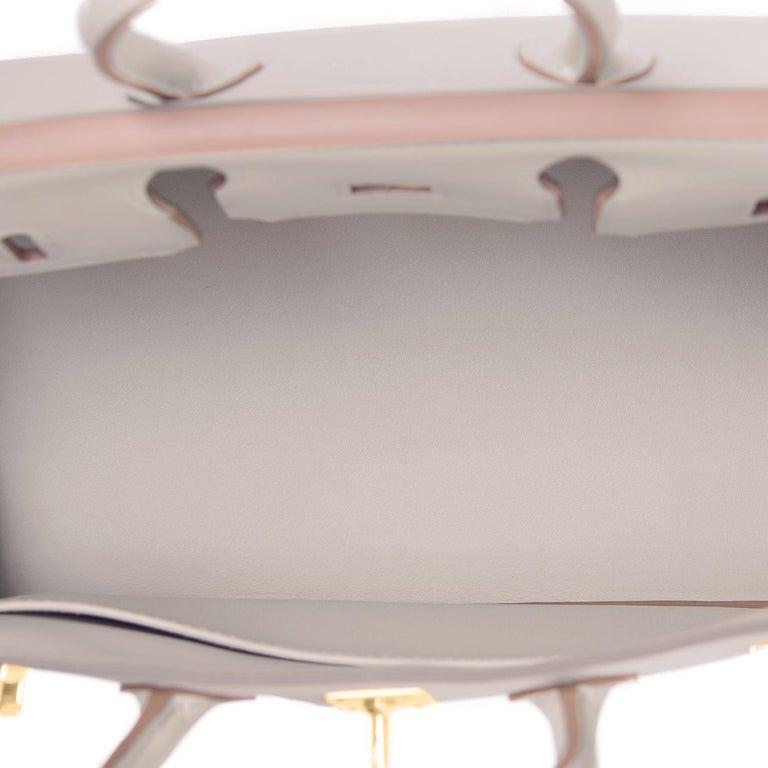Hermes Birkin 25 Beton Off White Gold Hardware Bag Y Stamp, 2020  For Sale 3