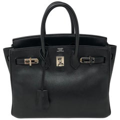Hermes Birkin 25 Black Swift