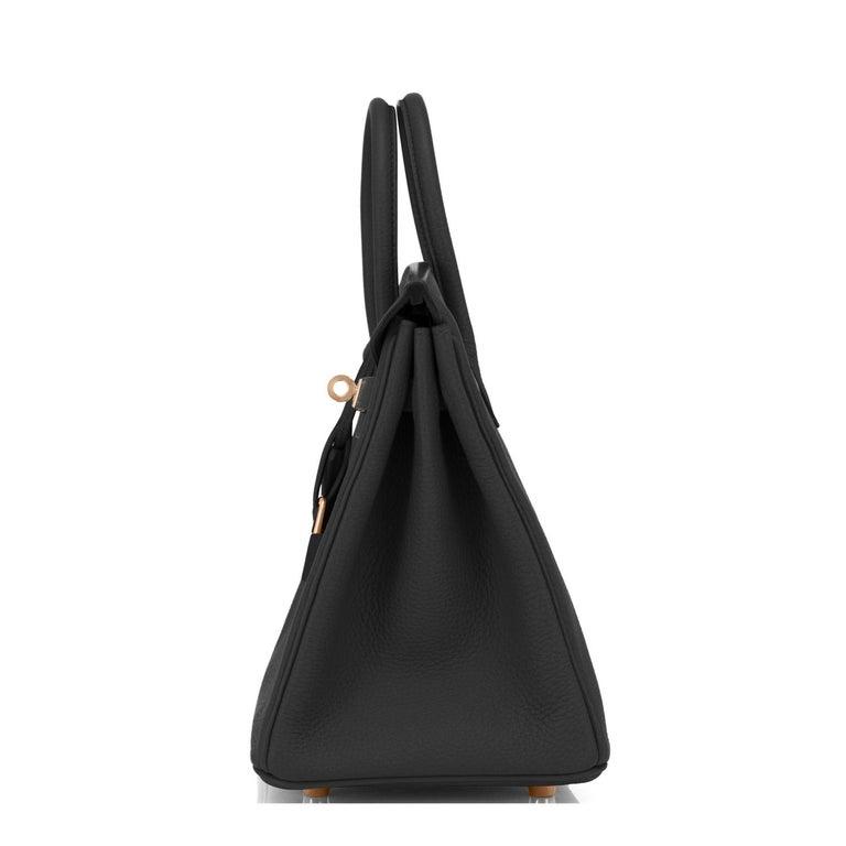 Hermes Birkin 25 Black Togo Rose Gold Hardware Bag Jewel Y Stamp, 2020 1