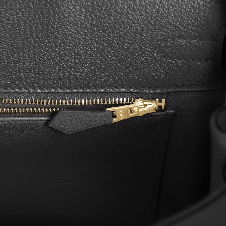 Hermes Birkin 25 Black Togo Rose Gold Hardware Bag Jewel Y Stamp, 2020 5