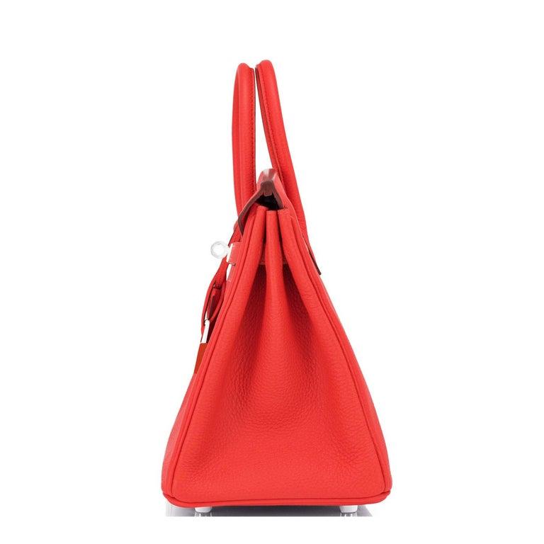 Hermes Birkin 25 Capucine Red Orange Togo Bag NEW For Sale 1