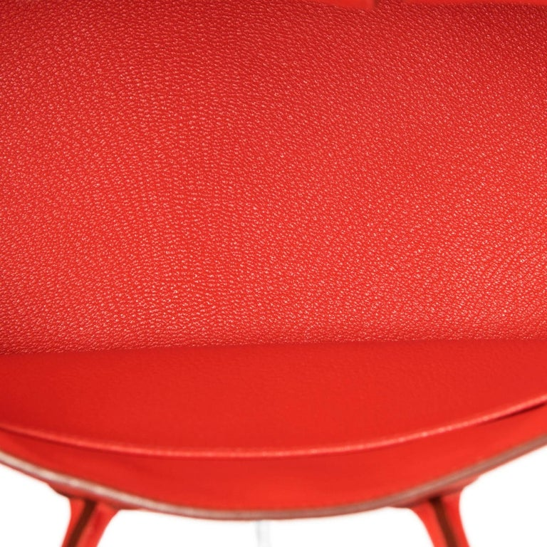 Hermes Birkin 25 Capucine Red Orange Togo Bag NEW For Sale 4