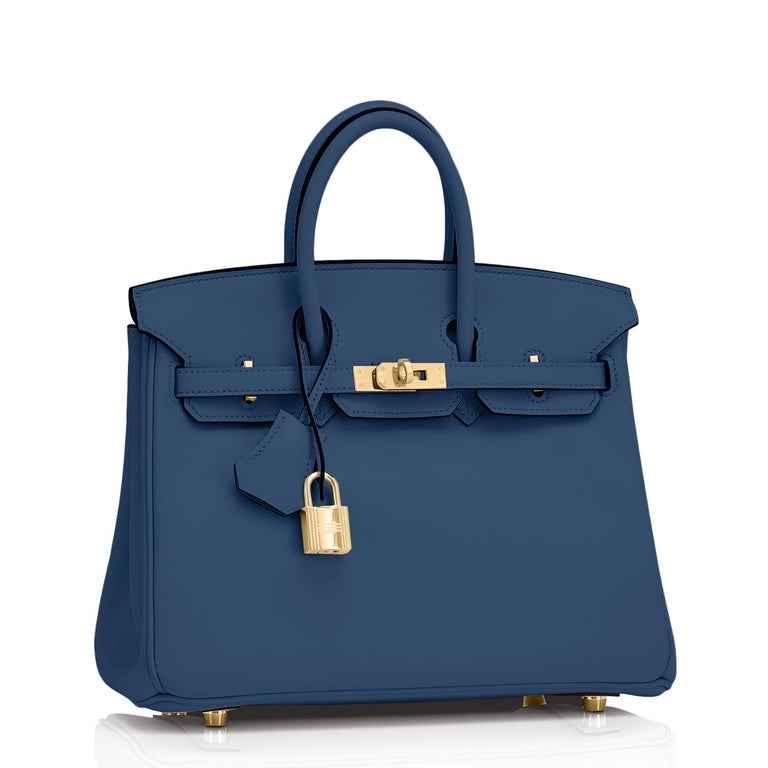 Hermes Birkin 25 Deep Blue Jewel Toned Navy Bag Gold Hardware Y Stamp, 2020 In New Condition For Sale In New York, NY