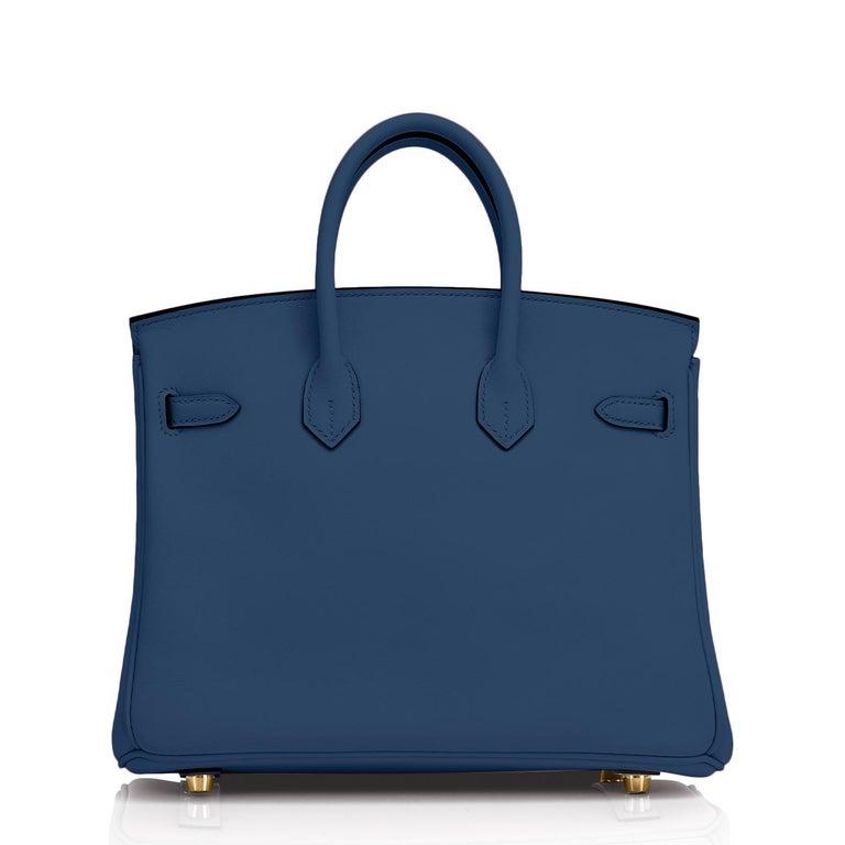 Hermes Birkin 25 Deep Blue Jewel Toned Navy Bag Gold Hardware Y Stamp, 2020 For Sale 1