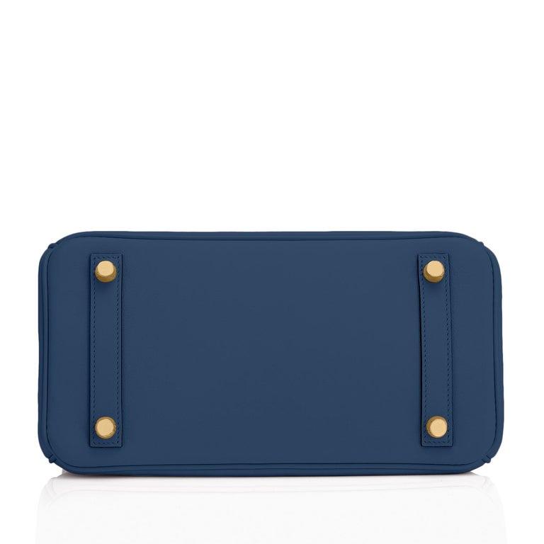 Hermes Birkin 25 Deep Blue Jewel Toned Navy Bag Gold Hardware Y Stamp, 2020 For Sale 2