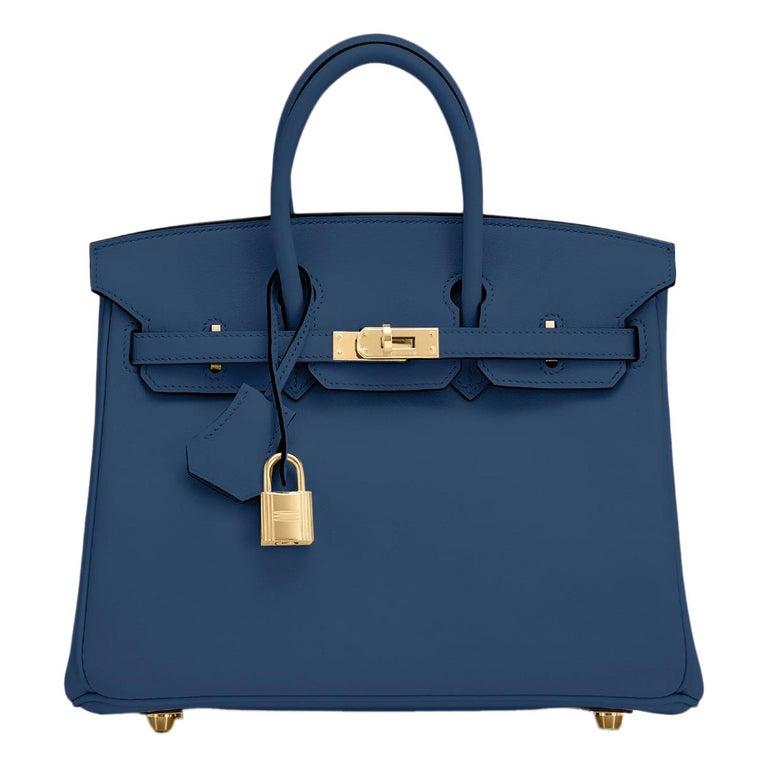 Hermes Birkin 25 Deep Blue Jewel Toned Navy Bag Gold Hardware Y Stamp, 2020 For Sale