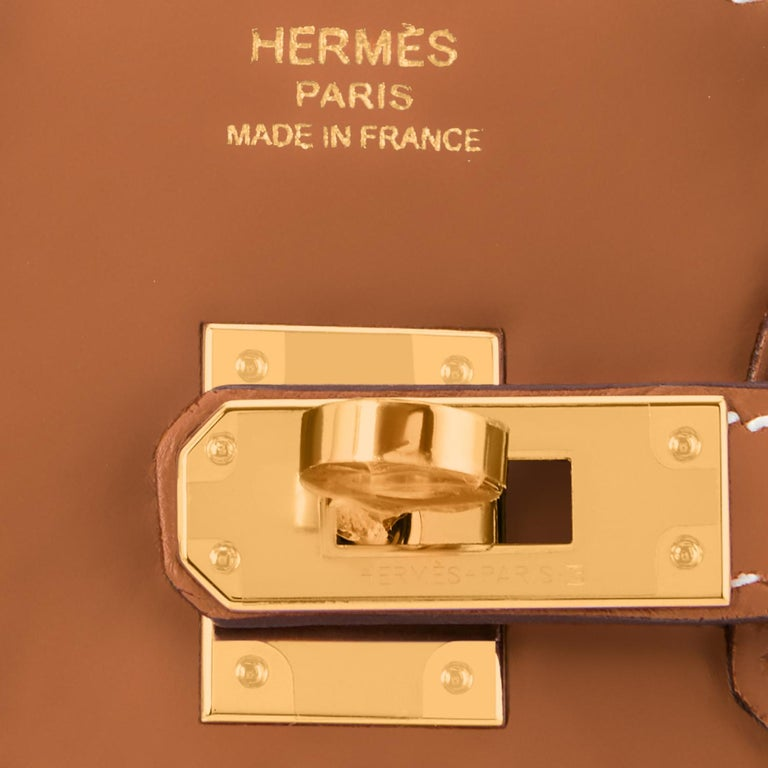 Hermes Birkin 25 Gold Camel Tan Bag Swift Gold Hardware Y Stamp, 2020 For Sale 6