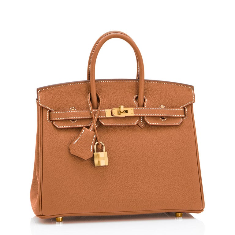 Hermes Birkin 25 Gold Camel Tan Bag Togo Gold Hardware Y Stamp, 2020 In New Condition For Sale In New York, NY