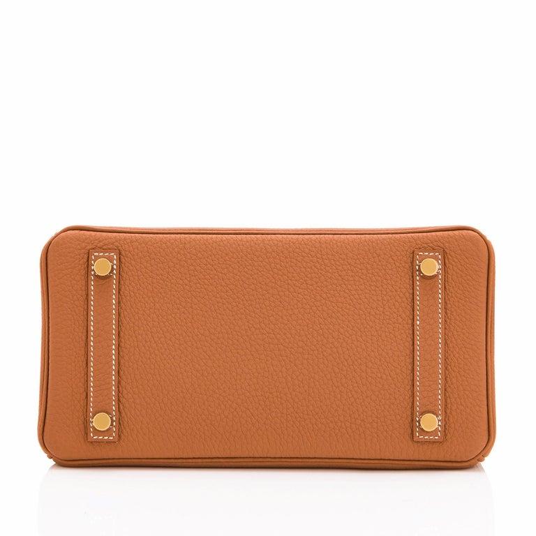 Hermes Birkin 25 Gold Camel Tan Bag Togo Gold Hardware Y Stamp, 2020 For Sale 3
