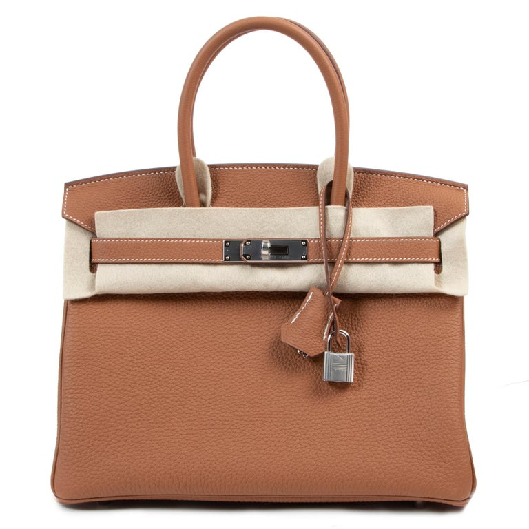 Hermès Birkin 25 Gold Togo GHW For Sale 1