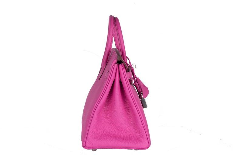 Hermes Birkin 25 Magnolia Togo Palladium Bag For Sale 4