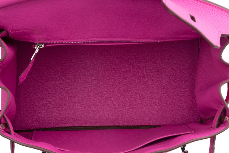 Hermes Birkin 25 Magnolia Togo Palladium Bag For Sale 10