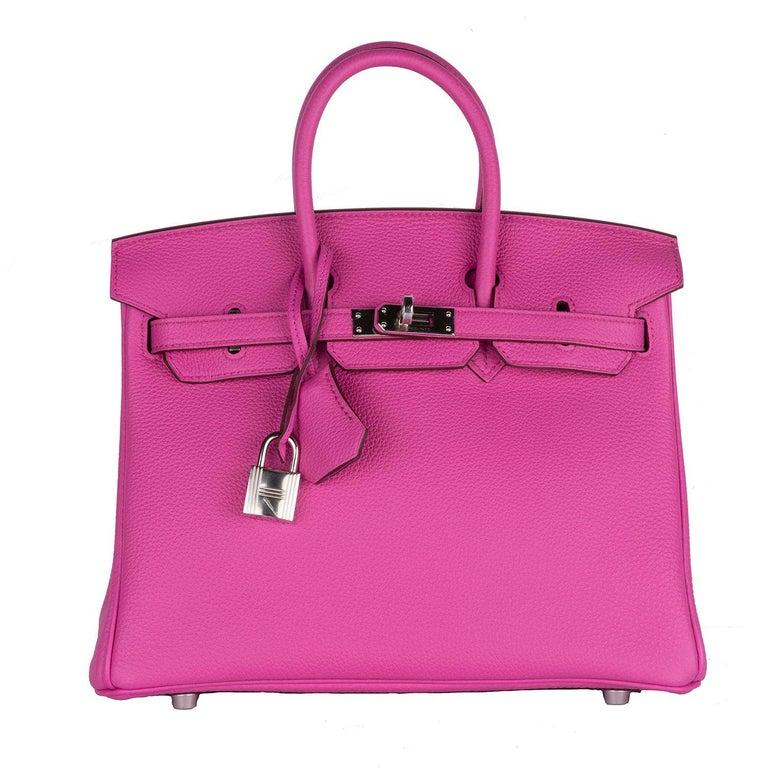 Hermes Birkin 25 Magnolia Togo Palladium Bag For Sale